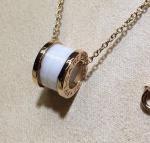 .zero1 pendant with white ceramic 18kt pink gold chain Ref.