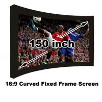 Wholesale On Sale Curved Fixed Frame 16:9 Projection Screen 150 Inch For 3D Home Cinema Theater from china suppliers