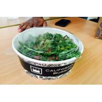 Wholesale High / Low Temperature Resistant Take Away Paper Salad Bowls With Lids from china suppliers