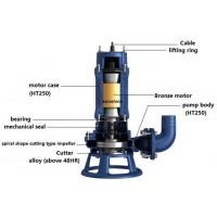 XWQ Submersible sewage pump with spiral shape cutting type impeller/waste water pump/slurry pump/centrifugal sump pump
