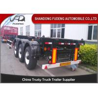 Wholesale 45ft Chassis Container Trailer Three Axles Skeletal Semi Trailer Truck First Axle Lift from china suppliers
