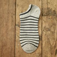 Fashion striped summer boat cotton socks for men