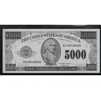 Wholesale $5000 Silver American Banknote from china suppliers