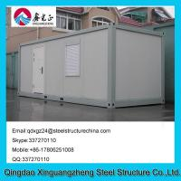 China Sandwich panel frame flat pack living container house with one window on sale