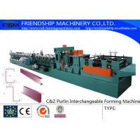 China 415V C Z Purlin Roll Forming Machine For 80-300mm C&Z Steel Purlin on sale