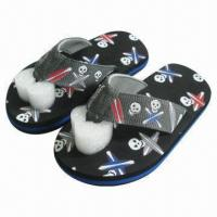 Wholesale 2013 Popular Kids' Beach Sandals, Fabric Upper and EVA Outsole from china suppliers