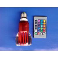 Wholesale 16 Color Change RGB 3W LED Light Bulb Lamp Remote Control  from china suppliers