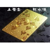 Wholesale Personalized Dubai Playing Cards Colorful Cool Gold Plated Poker Cards With Gift Box from china suppliers