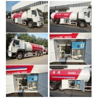 Wholesale high quality 6x4 HOWO 25300 liters gas cylinder transportation lpg tanker truck for sale, howo lpg gas dispenser truck from china suppliers