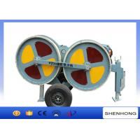3 Ton Hydraulic Tensioner 5 Km / H Max Pulling For Stringing During Overhead Line Transmission
