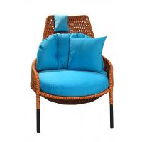 China Hormel garden furniture set rattan egg chair outdoor furniture garden armrest rattan reclining chairs with 10cm cushion on sale