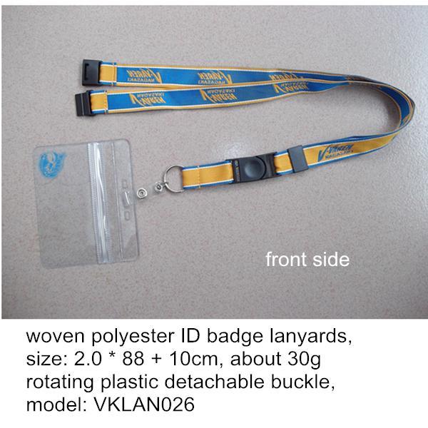 Custom made woven lanyards manufacturer China