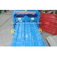 China 0.3-0.8mm Thickness Panel Roof Glazed Tile Roll Forming Machine With 16 Forming Station on sale