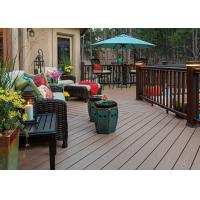 China Anti-Mould PVC Composite Wood Decking Flooring Cafe PVC Decking Flooring on sale