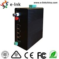 Wholesale Video Ethernet Industrial Fiber Media Converter 4 10 / 100M Ethernet 1 Video 1RS485 Data from china suppliers
