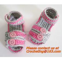 Wholesale Boys Girls, Crochet Sandal, Thongs Slippers, Newborn, Infant, Toddler Prewalker Kids Knitt from china suppliers