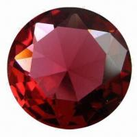 China Chaton Ruby Red Glass Round Gems for Necklace, Earrings, Pendant, Ring and Bracelet Setting on sale