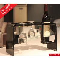 China Wine Glass Holder Home Acrylic Display Stands Clear 280*155*170mm on sale