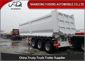 Wholesale 3 Axles 25 Cubic Meters Double Tires 30T Dump Semi Trailer from china suppliers