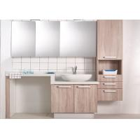 China Melamine panel bathroom cabinet custom moisture-proof cabinet quartz worktop on sale