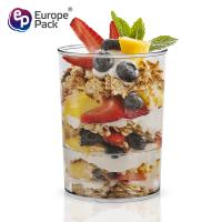 Wholesale High quality reusable 93ml disposable plastic yogurt cup for different foods from china suppliers