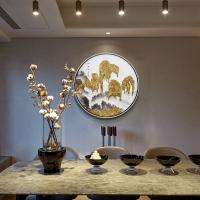 Handmade Asian Metal Wall Art Sculpture Abstract Mountainous for Living Room of Home Decorations