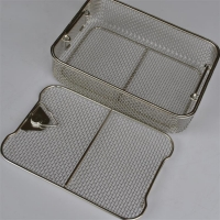 Wholesale Square Hole 0.64mm Wire Mesh Fruit Bowl Electrolytic Polishing from china suppliers