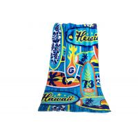 Extra Long Printed Promotional Beach Towels Custom CMYK Design For Adult