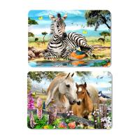 China Decorative Animal PET 3D Lenticular Plastic Table Mats Offset Printing on sale