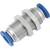 Buy cheap Inline Bulkhead Union One Touch Pneumatic push Fittings from Wholesalers