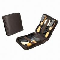 Wholesale Shoe shine set, made of PU leather and wood from china suppliers