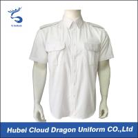 China Summer Police Uniform Shirts White Short Sleeve For Military Tactical on sale