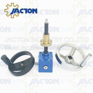 China Wide Usage motorized worm gear screw jack worm electric transmission gearbox jack with threaded screw jacks on sale