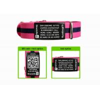 Wholesale Adjustable  Nylon Sport ID Bracelet With Engraving Black Metal Plate from china suppliers