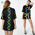 Oversize Womens Glitter Clothes / Women Sequin Party Dresses Hip Pop Style