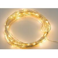 Wholesale Flexible Cable Battery Operated LED String Lights White / Purple For Xmas from china suppliers