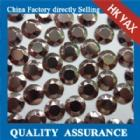China hotfix metal rhinestud hotfix metal studs sixteen cut faces YX1135brown color on sale