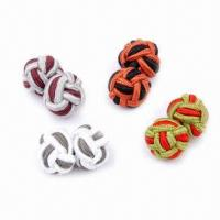Wholesale Silk knot cufflinks, 1.0cm diameter from china suppliers