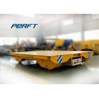 Buy cheap steel frame flat transport carriage on railways transfer cart supplier from wholesalers