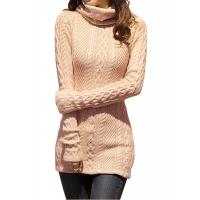 Wholesale Slim Fit Turtleneck Fashion Pullover Sweaters Cable Knit Jumper Womens from china suppliers