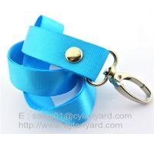 printed nylon neck ribbon with rivet