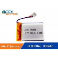 Wholesale Rechargeable 303040 Lithium polymer battery 3.7V 300mah for bluetooth speaker from china suppliers