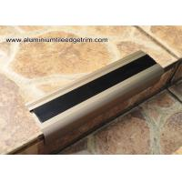 Buy cheap Anodised Matt Champagne Aluminum Metal Stair Nose Moulding 35mm x 55mm TL30 from wholesalers