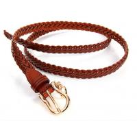 China Sell jeans pants dress trousers genuine leather strap weaving braiding belts on sale