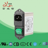 Wholesale UL1283 Single Phase Socket 90dB Plug In RFI Filter from china suppliers