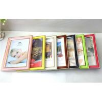 Wholesale 6inch High glossy with gold foil edge PVC plastic photo frame 7color avaiable from china suppliers