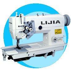 China LJ-B845-5 Double Needle Sewing Machine with Spilt Needle Bar on sale