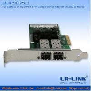 PCI Express PCIe x4 Dual SFP Port Gigabit Server Adapter (Intel I350 Based)