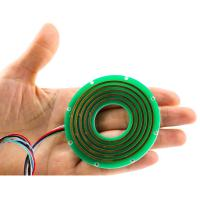 China Small Slip Ring of Flat Type Routing 5A with 2 Circuits for Cable Reels on sale