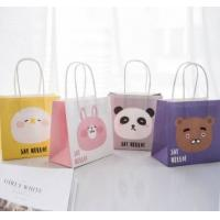 Wholesale Lovely Cartoon Printed Recycled Paper Shopping Bags Eco Friendly Light Weight from china suppliers